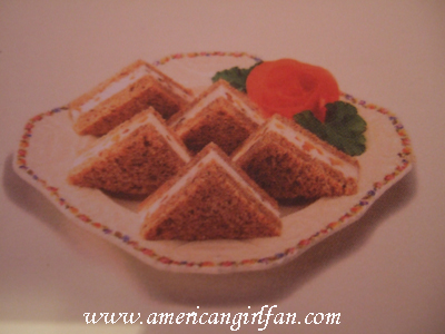 Samantha's cream cheese and Walnut sandwiches