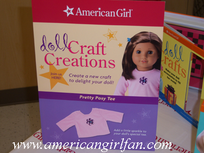 The American Girl Craft sign copy