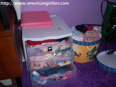 Where I store my doll clothes
