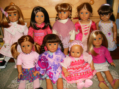 Starrs dolls in pink