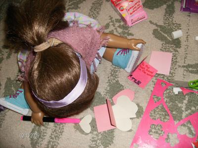 Starrs doll making valentines