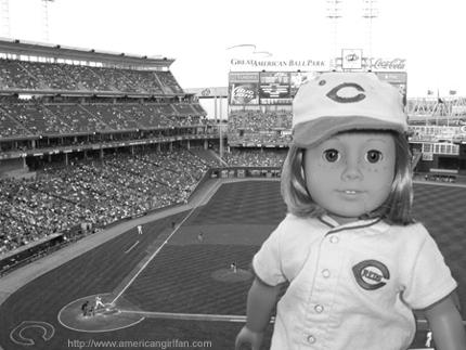 Kit at the Baseball game