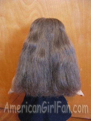 Her hair dry