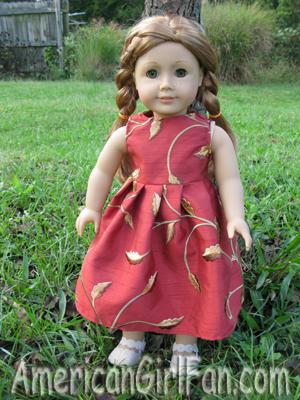Mia in the dress