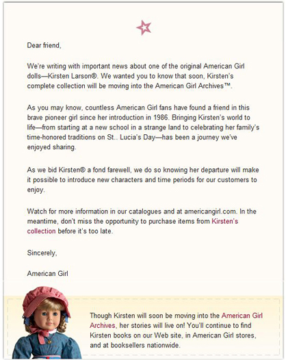 Kirsten letter email