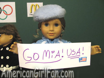 American Girl Olympic Signs