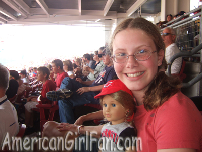 Elizabeth and I at the game