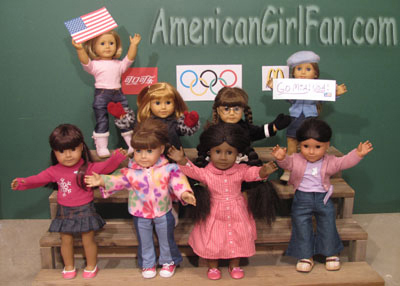 American Girl Winter Olympics Crowd Cheering