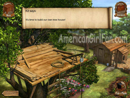 Http Www Americangirlfan Com 2010 04 American Girl Kit A Tree House Of My Own Game Review Html