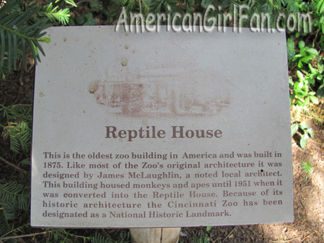 The Reptile House sign
