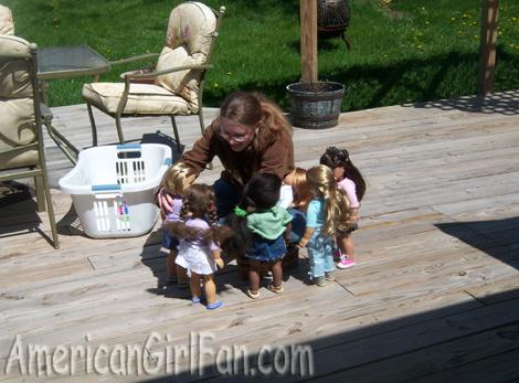 Setting up my dolls
