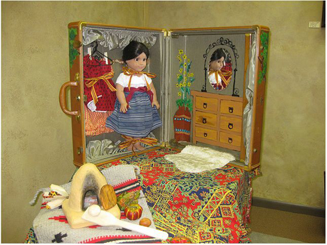 Josefina in Suitcase Dollhouse