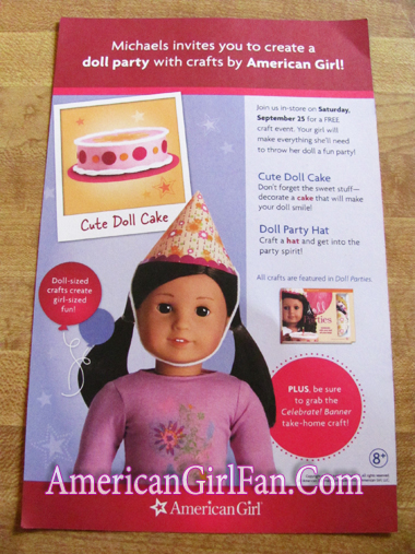 Michaels Free American Girl Doll Party Crafts Event Americangirlfan