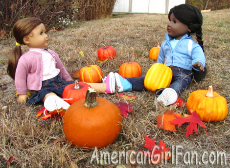 Sitting in the pumpkin patch