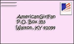 American Girl Fan Letter