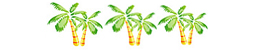 Palm tree banner