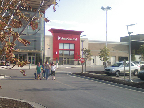 The front of American Girl Place Kansas City