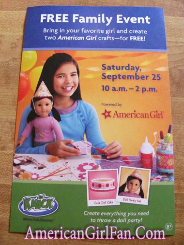 American Girl Michaels Craft Paper