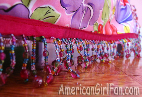 The beads on the bed