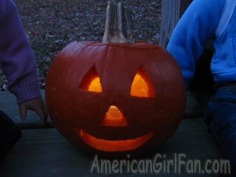 Light pumpkin close up