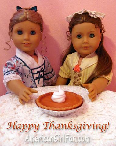 Felicity and Elizabeth with Pumpkin Pie