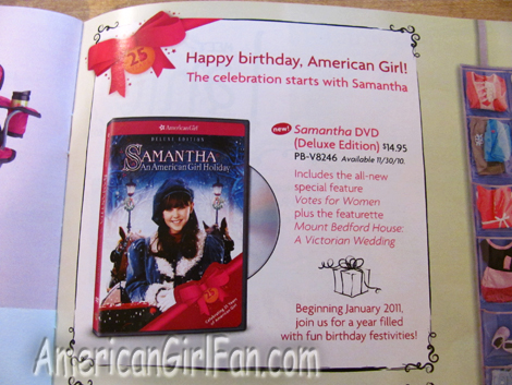 Page of American Girls 25th Birthday