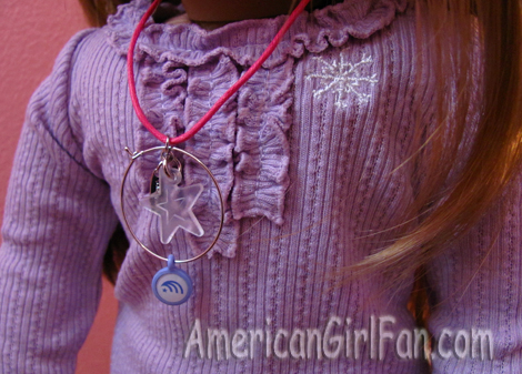 Charm on necklace