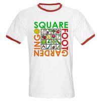 Square Foot Gardening Ringer Tee