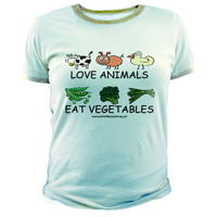 Love Animals, Eat Vegetables Cotton Tee
