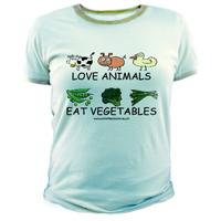 Love Animals, Eat Vegetables Cotton Tee