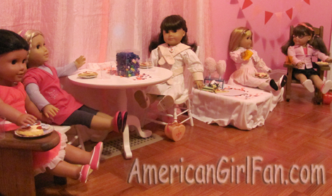 Girls eating