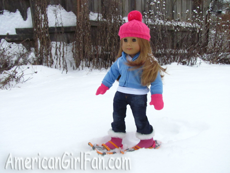 Mia Walking in the Snow