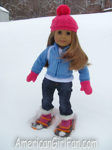 Mia posing with her snow shoes2