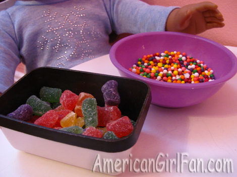 The candy to decorate