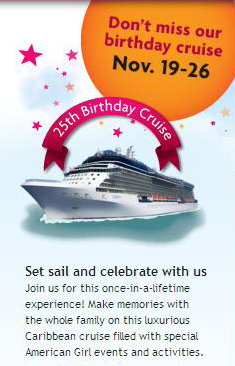 American Girl Birthday Cruise