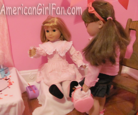 Megan talking to Nellie