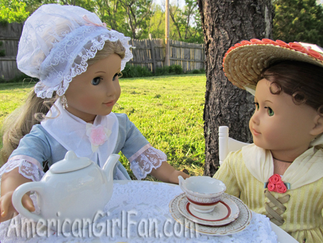 Elizabeth serving Felicity