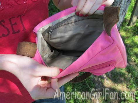 Inside of the bag