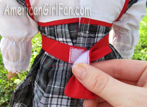 Velcro on back