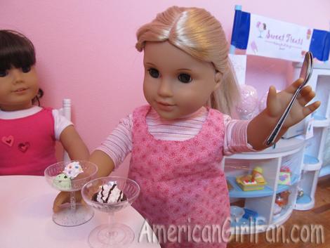 Waitress with Ice Creams