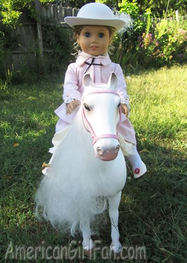Elizabeth on top of horse