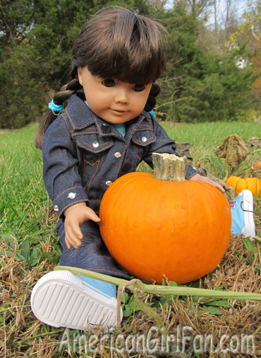 Abbey with her pumpkin