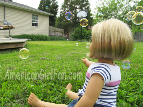 Bubbles from her neighbors1