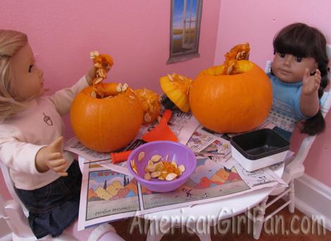 Getting pumpkin goop