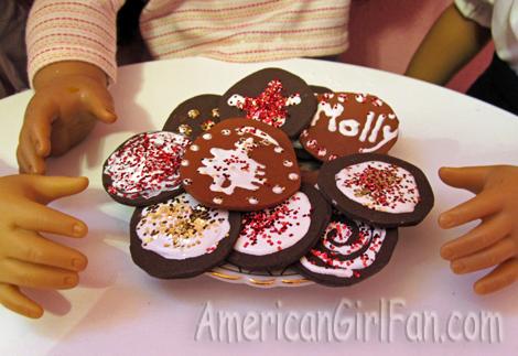 Closeup of cookies