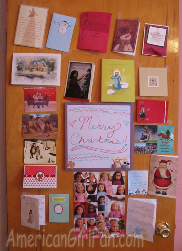 All the cards on my door
