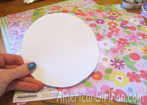 Circle from paper plate
