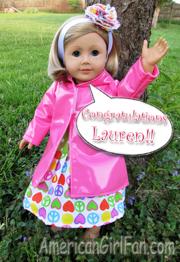 Congrats to Lauren for Giveaway