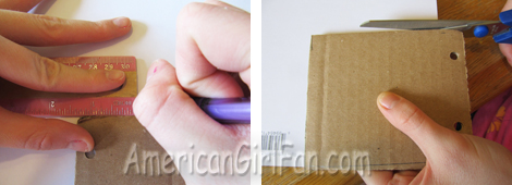 Cut paper for cardboard