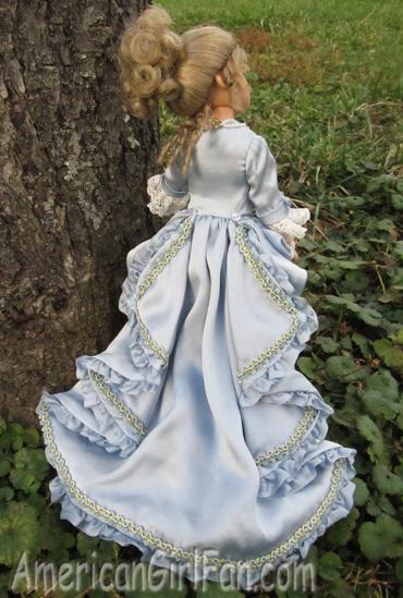 Back of her dress